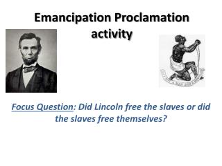Emancipation Proclamation activity