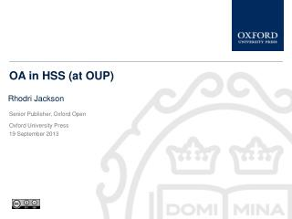 OA in HSS (at OUP)