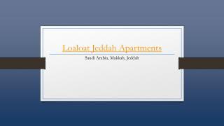 Loaloat Jeddah Apartments - Holdinn