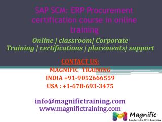 SAP SCM ERP Procurement certification course in online train