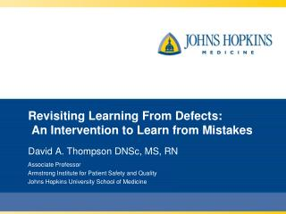 Revisiting Learning From Defects:  An Intervention to Learn from Mistakes