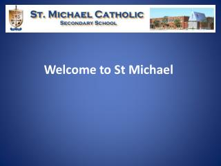 Welcome to St Michael