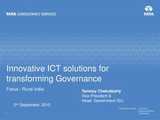Innovative ICT solutions for transforming Governance