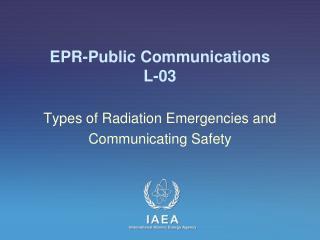 EPR- Public Communications L-03