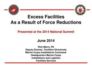 Excess Facilities  As a Result of Force Reductions Presented at the 2014 National Summit June 2014