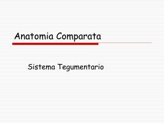 Anatomia Comparata