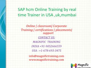 SAP hcm Online Training by real time Trainer in USA ,uk,mumb