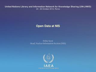 Open Data at NIS