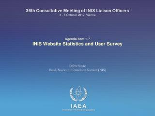 Agenda item 1.7 INIS  Website Statistics and User Survey