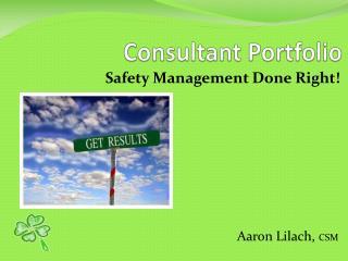 Consultant  Portfolio