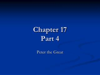 Chapter 17 Part 4