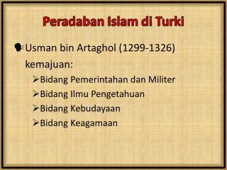 Peradaban  Islam  di Turki
