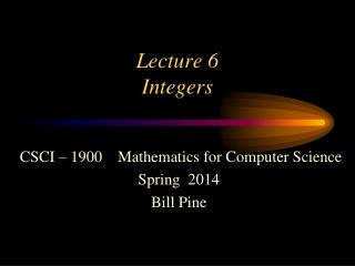 Lecture 6 Integers