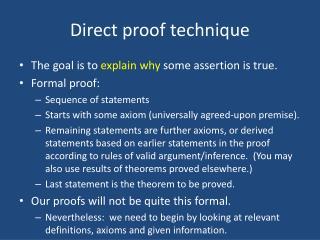 Direct proof technique
