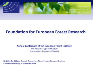Foundation for European Forest Research