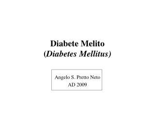 Diabete Melito Diabetes Mellitus