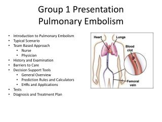Group 1 Presentation Pulmonary Embolism