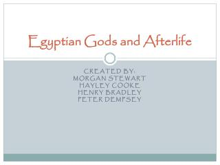 Egyptian Gods and Afterlife