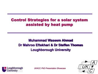Control Strategies for a solar system assisted by heat pump