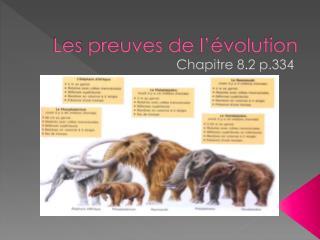 Les  preuves de l��volution