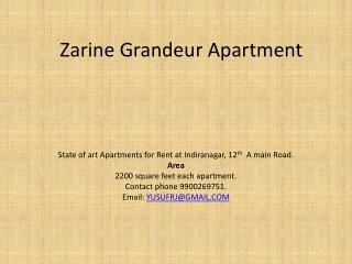 Zarine  Grandeur  Apartment