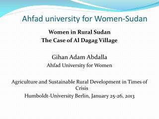 Ahfad  university for Women-Sudan