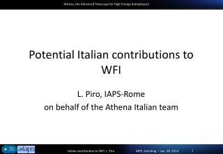 Potential Italian contributions  to WFI