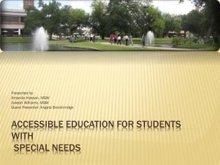 Accessible Education for Students  with  Special Needs