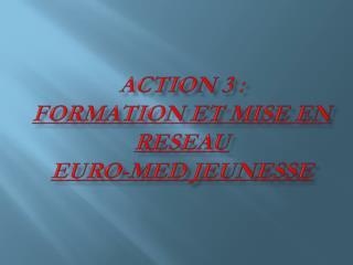 ACTION 3: FORMATION ET MISE EN RESEAU EURO-MED JEUNESSE
