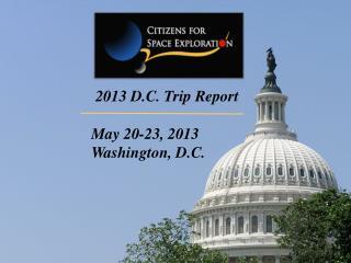 2013 D.C. Trip Report