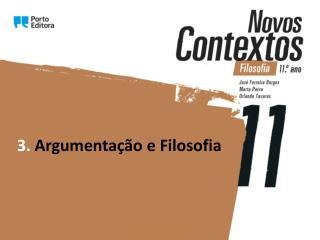 3.  Argumentação e Filosofia