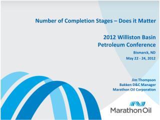 2012 Williston Basin Petroleum Conference