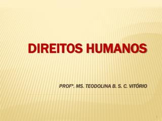 DIREITOS HUMANOS Profª. Ms. Teodolina B. S. C. Vitório