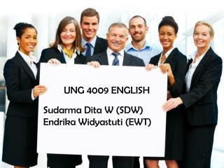 UNG 4009 ENGLISH