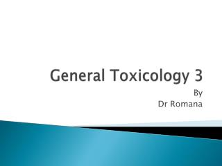 General Toxicology 3