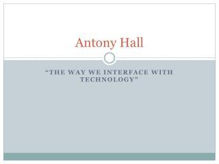 Antony  Hall