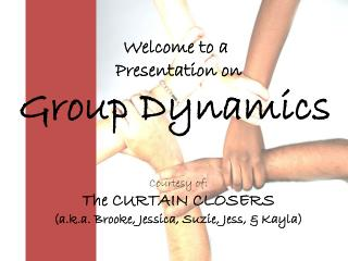 Welcome to a  Presentation on Group Dynamics Courtesy of: The CURTAIN CLOSERS