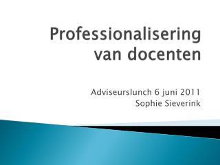 Professionalisering van docenten