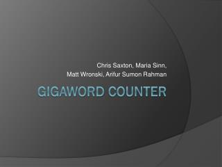 Gigaword  Counter