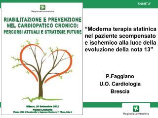 P.Faggiano U.O. Cardiologia Brescia