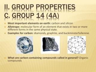 ii. Group properties C. Group 14 (4a)
