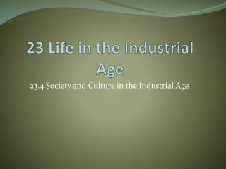 23 Life in the Industrial Age