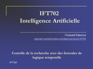 IFT702  Intelligence Artificielle