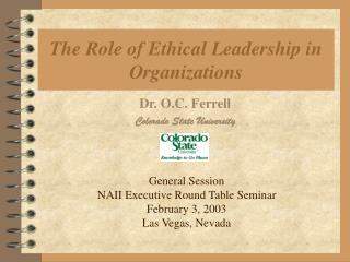 The Role of Ethical Leadership in Organizations