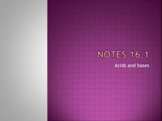 Notes 16.1