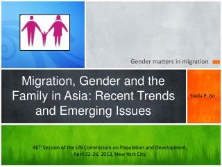 Migration, Gender and the Family in Asia: Recent Trends and Emerging Issues