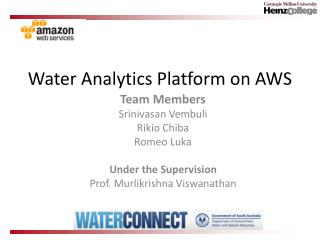 Water Analytics Platform on AWS