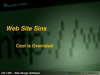 Web Site Sins