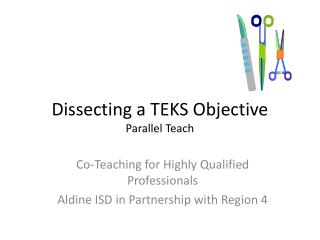 Dissecting a TEKS Objective Parallel Teach