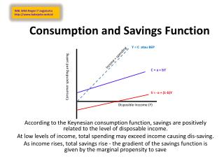 Consumption and Savings Function